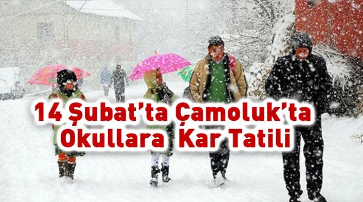 Çamoluk'ta Okullara Kar  Tatili