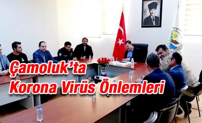 Çamoluk'ta Korona Virüs Önlemleri