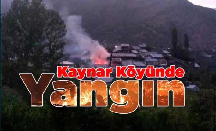 Kaynar (Münük) Köyünde Yangın