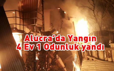 Alucra'da Yangın