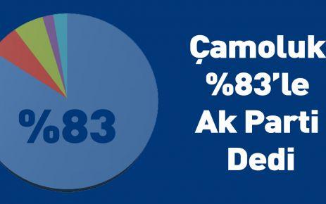 Çamoluk %83 ile Ak Parti Dedi