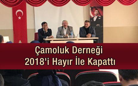 Çamoluk Derneği 2018'i hayır ile kapattı