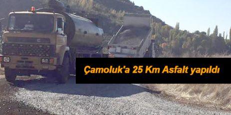 Çamoluk'a 25 Km Asfalt yapıldı