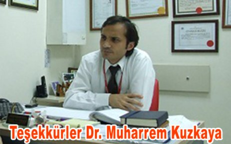 Çamoluk'lu Dr. Muharrem Kuzkaya Takdir Topluyor