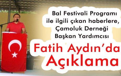Fatih Aydın dan 2011 Bal Fetivali ile Açıklama