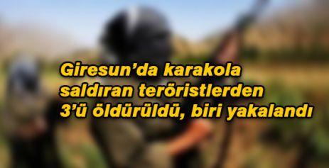 Giresun'da, Şehidin kanı yerde kalmadı; Teröristlerin 3 Ölü 1'i Yaralı yakalandı