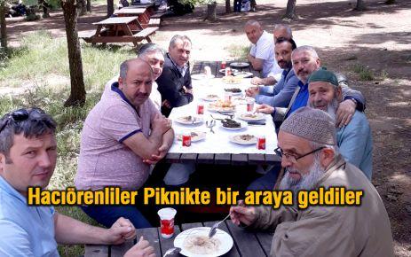 Hacıörenliler Ümraniye'de piknikte buluştular.