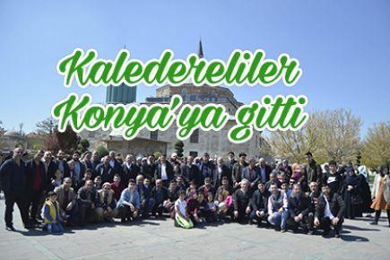 Kaledereliler, Konya'ya gitti.