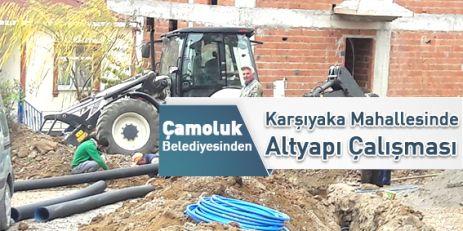 Karşıyaka Mahallesinde Altyapı Çalışması