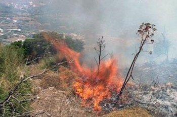 Hacı Ahmetoğlu Köyün de yangın