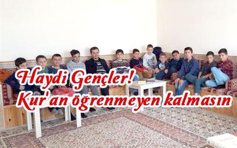Kur'an öğrenmeyen kalmasın Gençler!