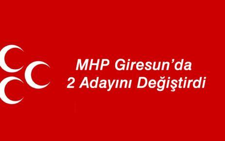 MHP Giresun'da iki adayını değiştirdi
