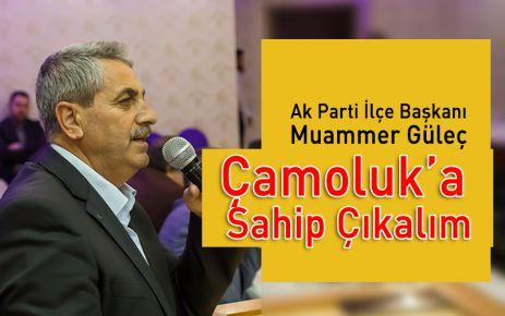 Muammer Güleç: Çamoluk'a Sahip Çıkalım