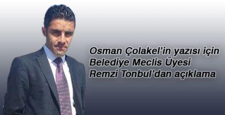 Remzi Tonbul'dan Açıklama