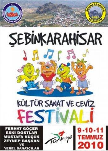 Şebinkarahisar Kültür Sanat ve Ceviz Festivali 1.Günü Büyük bir katılım