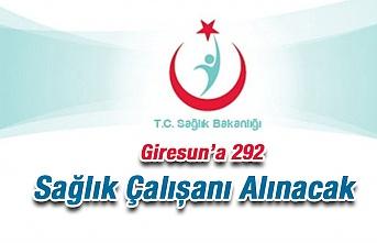 Giresun'a 292 Sağlık Personeli Alınacak