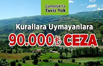 Çamoluk'ta Taviz Yok 90,000TL Ceza
