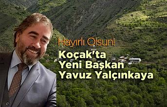 Koçak'ta yeni Başkan Yavuz Yalçınkaya