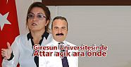 Giresun Üniversitesinde Attar açık ara...