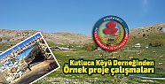 Kutluca Köyü Derneğinden Örnek proje...