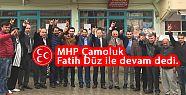 MHP Çamoluk Fatih Düz ile devam dedi.