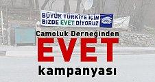 Çamoluk Derneğinden EVET Kampanyası