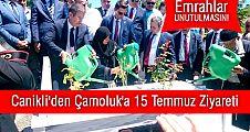 Canikli'den Çamoluk'a 15 Temmuz Ziyareti