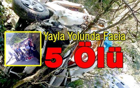 Yayla Yolunda Facia 5 Ölü