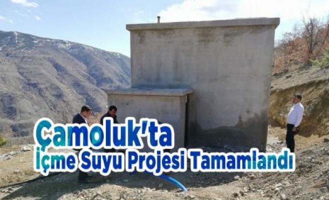 Çamoluk'ta İçme Suyu Projesi Tamamlandı
