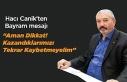Hacı Canik'ten Bayram Mesajı