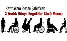 Çamoluk Kaymakamından Engelliler günü Mesajı