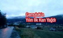 Çamoluk'a İlk Kar Düştü