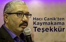 Hacı Canik'ten Kaymakama Teşekkür