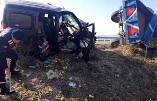 Alucra'lı Aile Amasya'da Kaza yaptı 1...