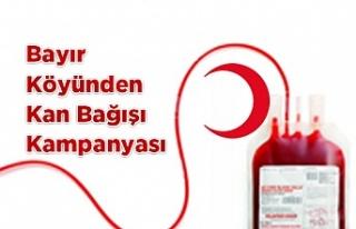 Bayır Köyünden kan Bağışı Kampanyası