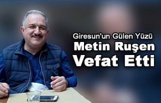 Giresun'un Gülen Yüzü Metin Ruşen Vefat Etti.