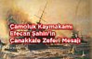 Çamoluk Kaymakamı Efecan Şahin'in Çanakkale Zaferi...