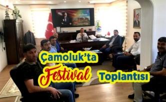 Çamoluk'ta Festival Toplantısı