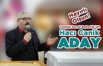 Hacı Canik Yeniden Aday