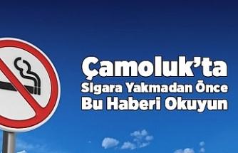 Çamoluk'ta Sigar Yasaklandı