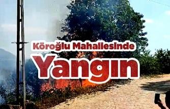 Köroğlu Mahallesinde Yangın
