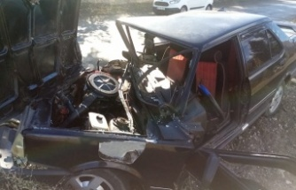 Çamoluk'ta Feci Kaza 1 Yaralı