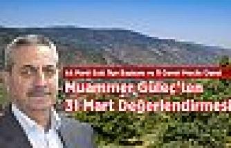 Muammer Güleç'ten 31 Mart Değerlendirmesi