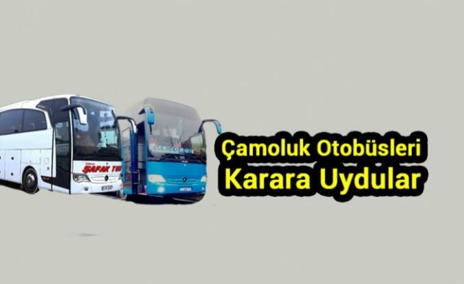 Çamoluk Otobüsçüleri Karara Uydu