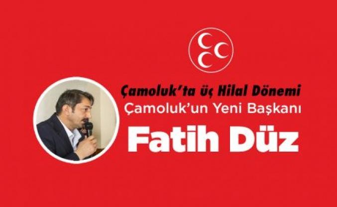 Çamoluk'un Yeni Başkanı Fatih Düz