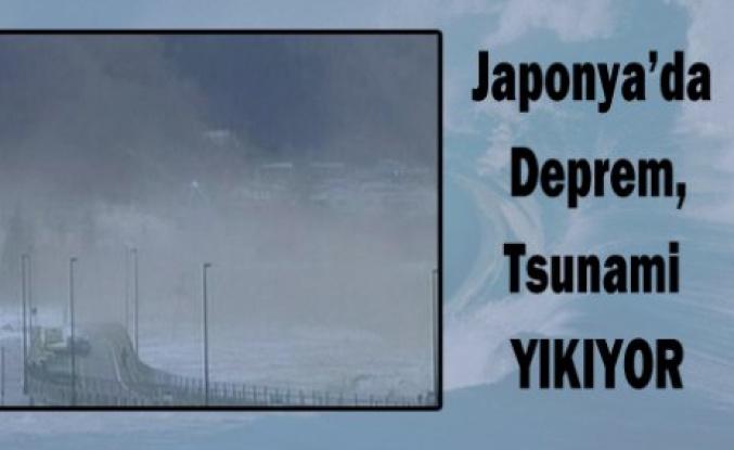 Japonya'da deprem! TSUNAMİ yıkıyor...