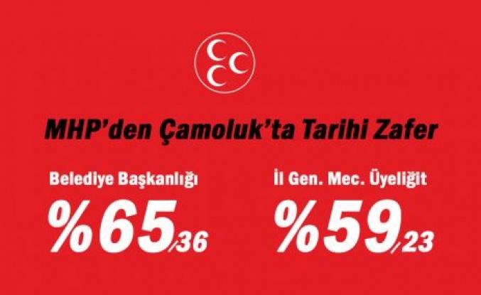 MHP Çamoluk'ta tarih yazdı!