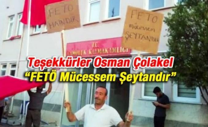 Tebrikler Osman Çolakel