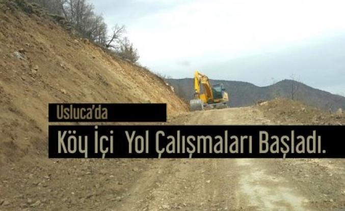 Usluca'da Köy İçi Yol çalışmaları