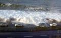 Karadeniz köpürdü karayolu ulaşıma kapandı -
